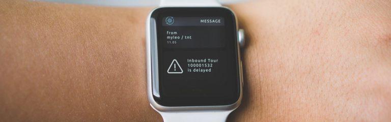 Apple watch zeigt Informationen in Echtzeit