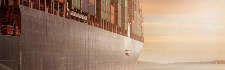 Die igital Supply Chain auf einem Containerschiff